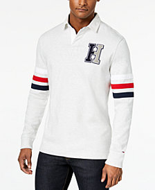 Tommy Hilfiger Men's Big & Tall Kunitz Rugby Classic Fit Polo Shirt, Created for Macy's