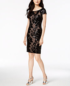Calvin Klein Sheer Sequin Dress
