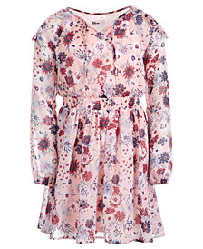 Epic Threads Big Girls Floral-Print Cold Shoulder Dress, Created for Macy's