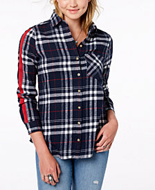 Polly & Esther Juniors' Cotton Plaid Shirt