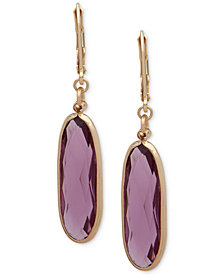 Anne Klein Gold-Tone Stone Drop Earrings