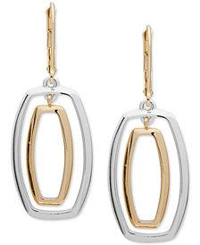 Anne Klein Two-Tone Orbital Drop Earrings