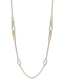 "Anne Klein Two-Tone Link 42"" Strand Necklace"