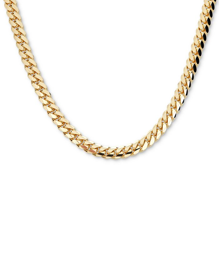 """Macy's - Men's Cuban Link 26"""" Chain Necklace in 18k Gold-Plated Sterling Silver"""