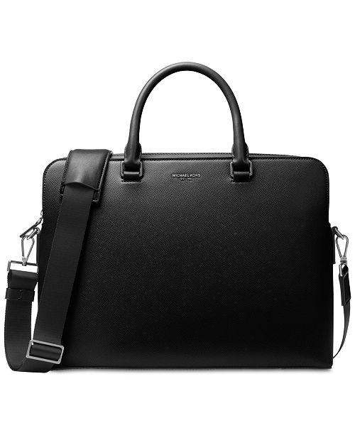 33b1e59dcaf5 Michael Kors Men s Harrison Leather Briefcase   Reviews - All ...