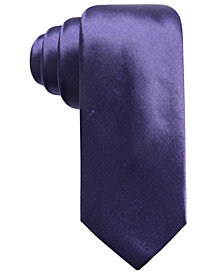 Alfani Men's Solid Silk Slim Tie, Created for Macy's