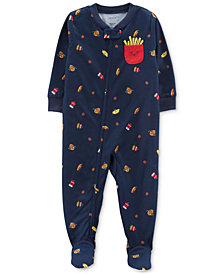 Carter's Baby Boys & Girls Fry-Print Footed Pajamas