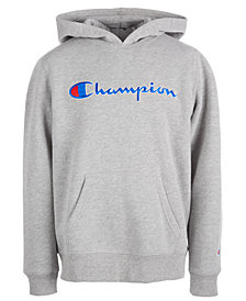 Champion Big Girls Heritage Logo Hoodie