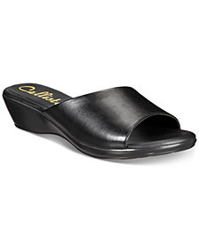 Callisto Cairo Slide Wedge Sandals, Created for Macy's