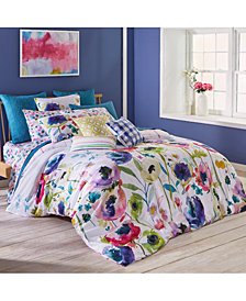 bluebellgray North Garden Cotton Reversible 230-Thread Count 3-Pc. Full/Queen Comforter Set
