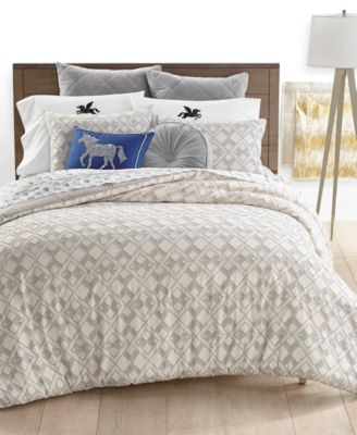 CLOSEOUT! Whim by Martha Stewart Clip Jacquard 2-Pc. Twin Comforter, Created for Macy's
