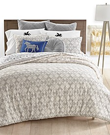 CLOSEOUT! Geo Clip Comforter Sets, Created for Macy's