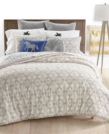 Clip Jacquard 3-Pc. Full/Queen Comforter Set, Created for Macy's