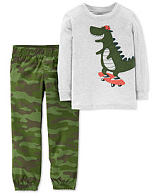 Carter's Toddler Boys 2-Pc. Graphic-Print T-Shirt & Joggers Set