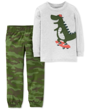 Carters Toddler Boys 2Pc GraphicPrint TShirt  Joggers Set