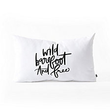 Deny Designs Chelcey Tate Wild Barefoot And Free Oblong Throw Pillow