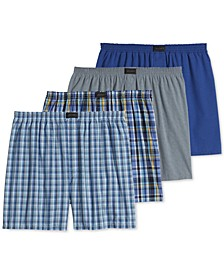 Men's 4 Pack Active Blend Woven Boxers