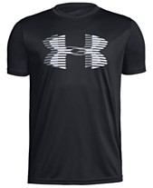 c77c3c0673d Under Armour Big Boys Logo-Print T-Shirt