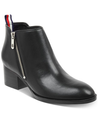 015b238aab7 Tommy Hilfiger Women's Ruthee Block-Heel Ankle Booties & Reviews ...