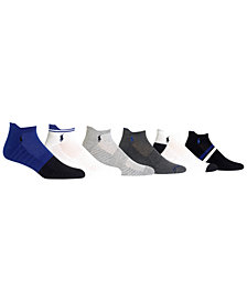 Polo Ralph Lauren Men's Big & Tall 6-Pk. Athletic Textured Low-Cut Socks