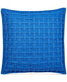 "Alexis Basketweave 20"" Square Decorative Pillow"