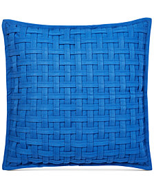 "Lauren Ralph Lauren Alexis Basketweave 20"" Square Decorative Pillow"