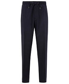BOSS Men's Slim-Fit Virgin Wool Casual Trousers