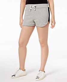 Material Girl Juniors' Mesh-Inset Drawstring Shorts, Created for Macy's
