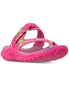 Skechers Little Girls' Reggae - Summers Athletic Flip Flop Thong Sandals from Finish Line