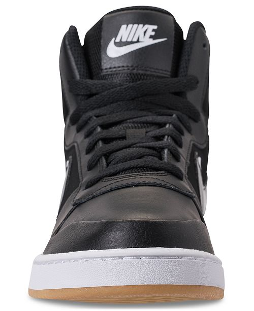 best service 76f62 87fef ... Nike Men s Ebernon Mid Premium Casual Sneakers from Finish ...