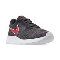 Nike Men's Tanjun Premium Casual Sneakers from Finish Line (Oil Grey/Univ Red-Gunsmok)