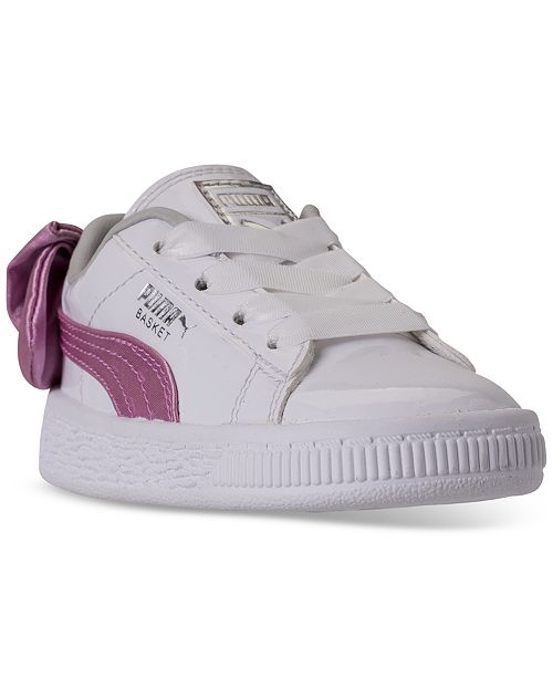 ... Puma Toddler Girls  Basket Bow Patent Casual Sneakers from Finish ... 68278876e