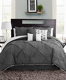 Pom Pom 7 Piece Queen Size Comforter Set