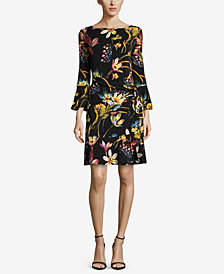 ECI Printed Tie-Waist Dress