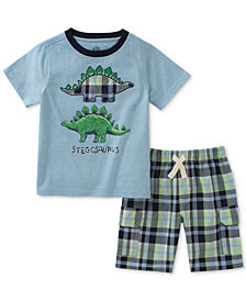 Kids Headquarters Little Boys 2-Pc. Dino T-Shirt & Shorts Set