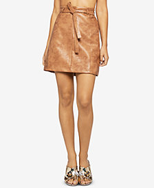 BCBGeneration Faux-Leather Mini Skirt