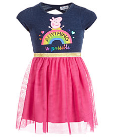 Peppa Pig Toddler Girls Graphic-Print Dress