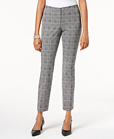 Alfani Petite Printed Skinny Pants, Created for Macy's
