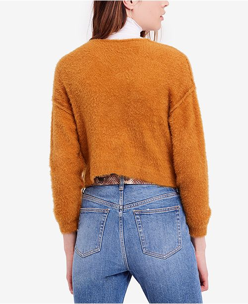 df6adf4b49 Free People Princess V Cropped Exposed-Seam Sweater   Reviews ...