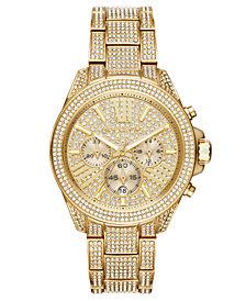 Michael Kors Women's Wren Gold-Tone Stainless Steel Bracelet Watch 42mm