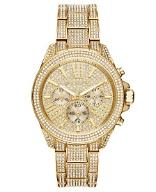 Michael Kors Women's Wren Gold-Tone Stainless Steel Bracelet Watch 42mm
