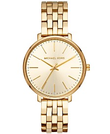 Michael Kors Women's Pyper Gold-Tone Stainless Steel Bracelet Watch 38mm
