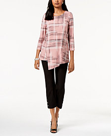 Alfani Asymmetrical Top & Ankle Pants, Created for Macy's