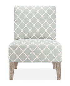 Brice Accent Chair, Soft Grey Lattice