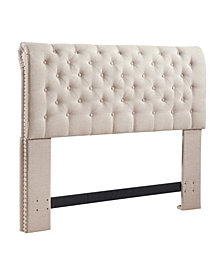 Chesterfield Headboard, Full/Queen, Linen