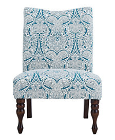 Payton Accent Chair, Paisley Blue
