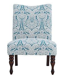 Payton Accent Chair, Paisley Blue
