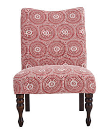 Payton Accent Chair, Medallion Ruby