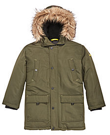 MICHAEL Michael Kors Toddler Boys Snorkel Hooded Coat with Faux-Fur Trim