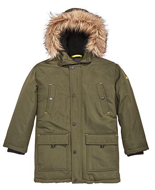 9ca923c55 Michael Kors Big Boys Hooded Coat with Faux-Fur Trim   Reviews ...